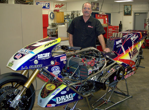 Larry McBride at the Shop